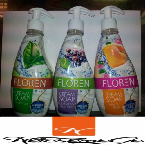 Floren 400ml foly.szappan green tea