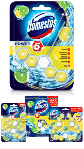 Domestos wc power5 55g lime