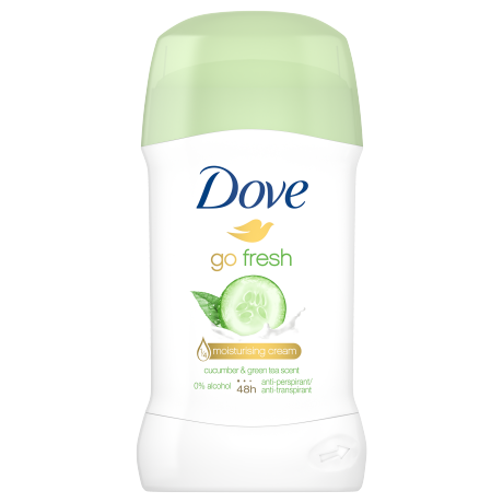 Dove stift 40ml go fresh moisturising uborka cucumber & green tea scent