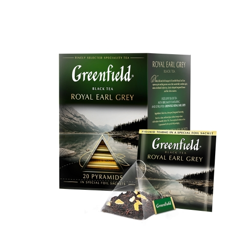 Greenfield fekete tea piramis 20x2g ROYAL EARL GREY